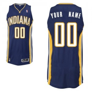 Maillot Indiana Pacers NBA Road Bleu marin - Personnalisé Authentic - Homme
