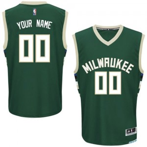 Maillot NBA Authentic Personnalisé Milwaukee Bucks Road Vert - Enfants