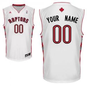 Maillot NBA Blanc Swingman Personnalisé Toronto Raptors Home Homme Adidas