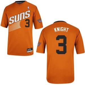 Maillot NBA Orange Brandon Knight #3 Phoenix Suns Alternate Authentic Homme Adidas
