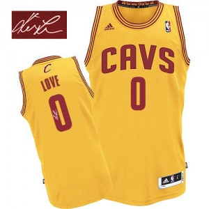 Cleveland Cavaliers #0 Adidas Alternate Autographed Or Authentic Maillot d'équipe de NBA sortie magasin - Kevin Love pour Homme