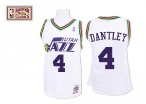 Maillot Swingman Utah Jazz NBA Throwback Blanc - #4 Adrian Dantley - Homme