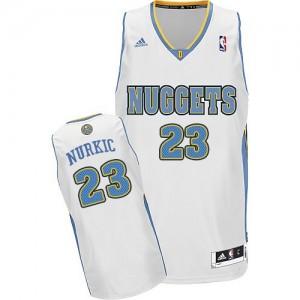 Denver Nuggets #23 Adidas Home Blanc Swingman Maillot d'équipe de NBA sortie magasin - Jusuf Nurkic pour Homme