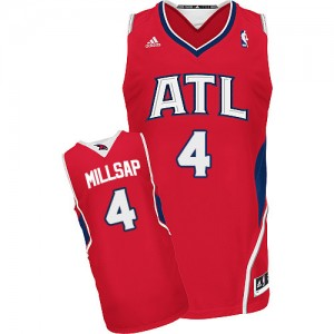 Atlanta Hawks Paul Millsap #4 Alternate Swingman Maillot d'équipe de NBA - Rouge pour Homme