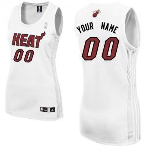 Maillot NBA Blanc Authentic Personnalisé Miami Heat Home Femme Adidas