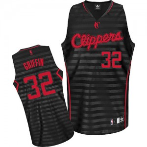 Maillot NBA Los Angeles Clippers #32 Blake Griffin Gris noir Adidas Authentic Groove - Homme