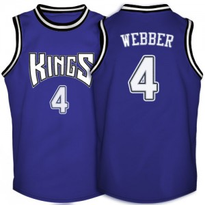 Maillot NBA Sacramento Kings #4 Chris Webber Violet Adidas Authentic Throwback - Homme