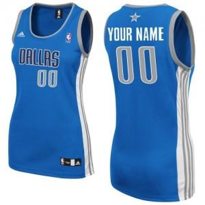 Dallas Mavericks Personnalisé Adidas Road Bleu royal Maillot d'équipe de NBA 100% authentique - Swingman pour Femme