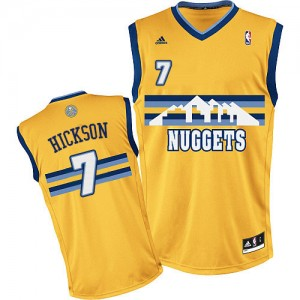 Maillot Adidas Or Alternate Swingman Denver Nuggets - JJ Hickson #7 - Homme