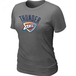 T-shirt principal de logo Oklahoma City Thunder NBA Big & Tall Gris foncé - Femme