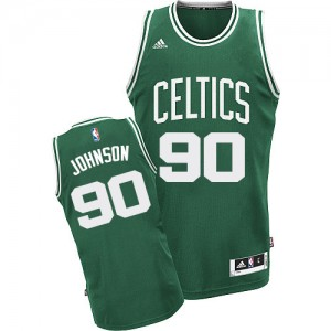 Boston Celtics Amir Johnson #90 Road Swingman Maillot d'équipe de NBA - Vert (No Blanc) pour Homme