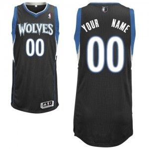 Maillot NBA Minnesota Timberwolves Personnalisé Authentic Noir Adidas Alternate - Enfants
