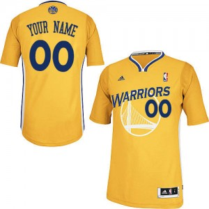 Golden State Warriors Personnalisé Adidas Alternate Or Maillot d'équipe de NBA Promotions - Swingman pour Enfants
