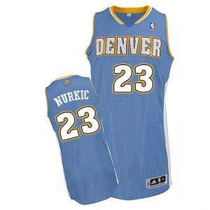 Denver Nuggets #23 Adidas Road Bleu clair Authentic Maillot d'équipe de NBA la meilleure qualité - Jusuf Nurkic pour Homme