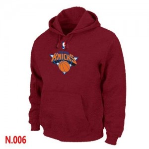 Sweat à capuche NBA Rouge New York Knicks Homme