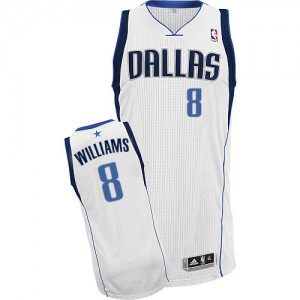 Maillot NBA Blanc Deron Williams #8 Dallas Mavericks Home Authentic Homme Adidas
