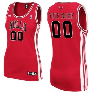 Maillot Chicago Bulls NBA Road Rouge - Personnalisé Authentic - Femme