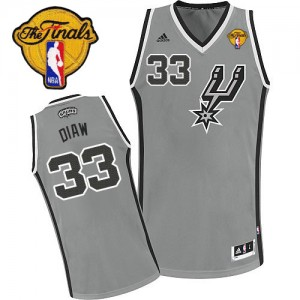 Maillot Swingman San Antonio Spurs NBA Alternate Finals Patch Gris argenté - #33 Boris Diaw - Homme
