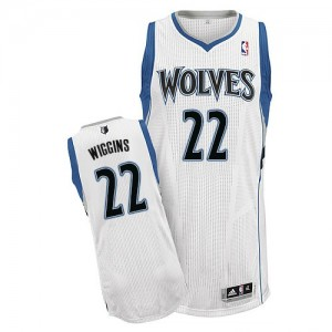 Maillot Adidas Blanc Home Authentic Minnesota Timberwolves - Andrew Wiggins #22 - Homme