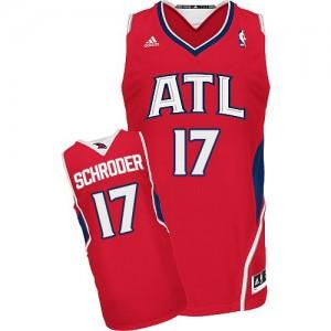 Maillot Adidas Rouge Alternate Swingman Atlanta Hawks - Dennis Schroder #17 - Homme