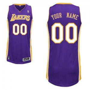 Maillot Adidas Violet Road Los Angeles Lakers - Authentic Personnalisé - Enfants