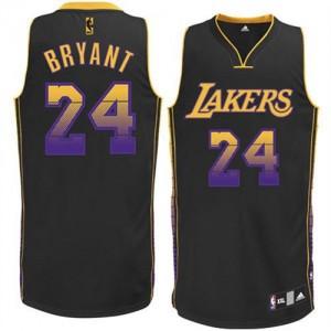 Los Angeles Lakers Kobe Bryant #24 Vibe Authentic Maillot d'équipe de NBA - Noir pour Homme