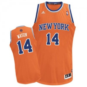 Maillot NBA Orange Anthony Mason #14 New York Knicks Alternate Swingman Homme Adidas