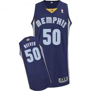 Memphis Grizzlies Bryant Reeves #50 Road Authentic Maillot d'équipe de NBA - Bleu marin pour Homme