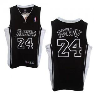 Los Angeles Lakers Kobe Bryant #24 Shadow Champions Patch Authentic Maillot d'équipe de NBA - Noir pour Homme
