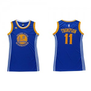 Maillot Adidas Bleu Dress Authentic Golden State Warriors - Klay Thompson #11 - Femme