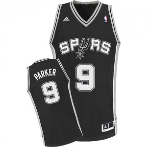 Maillot NBA Swingman Tony Parker #9 San Antonio Spurs Road Noir - Enfants