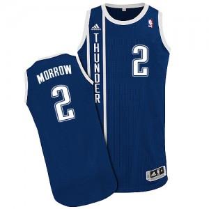 Oklahoma City Thunder Anthony Morrow #2 Alternate Authentic Maillot d'équipe de NBA - Bleu marin pour Homme