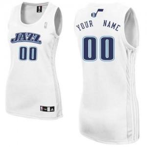 Maillot Adidas Blanc Home Utah Jazz - Authentic Personnalisé - Femme