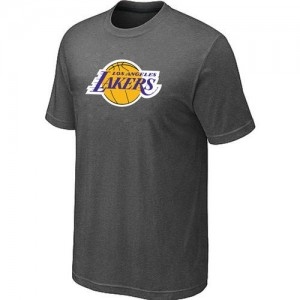 T-shirt principal de logo Los Angeles Lakers NBA Big & Tall Gris foncé - Homme
