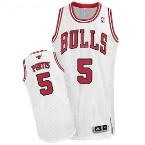 Maillot Authentic Chicago Bulls NBA Home Blanc - #5 Bobby Portis - Homme