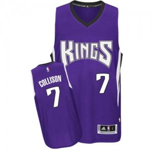 Maillot Adidas Violet Road Authentic Sacramento Kings - Darren Collison #7 - Homme