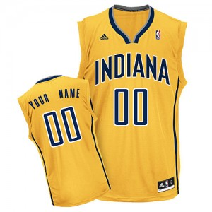 Maillot Adidas Or Alternate Indiana Pacers - Swingman Personnalisé - Femme