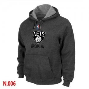 Brooklyn Nets Gris foncé Sweat à capuche d'équipe de NBA pas cher - pour Homme