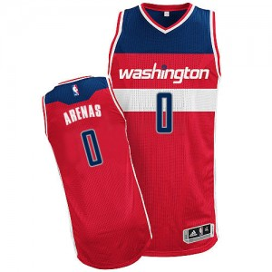 Maillot NBA Washington Wizards #0 Gilbert Arenas Rouge Adidas Authentic Road - Homme