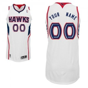 Maillot NBA Authentic Personnalisé Atlanta Hawks Home Blanc - Enfants