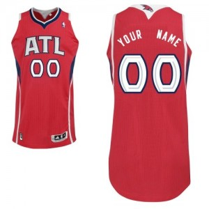 Maillot Adidas Rouge Alternate Atlanta Hawks - Authentic Personnalisé - Enfants