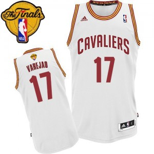Maillot NBA Blanc Anderson Varejao #17 Cleveland Cavaliers Home 2015 The Finals Patch Swingman Homme Adidas
