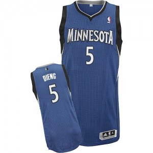 Maillot Authentic Minnesota Timberwolves NBA Road Slate Blue - #5 Gorgui Dieng - Homme