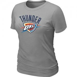 T-shirt principal de logo Oklahoma City Thunder NBA Big & Tall Gris - Femme