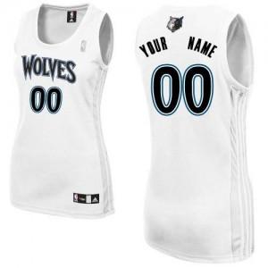 Minnesota Timberwolves Personnalisé Adidas Home Blanc Maillot d'équipe de NBA prix d'usine en ligne - Authentic pour Femme