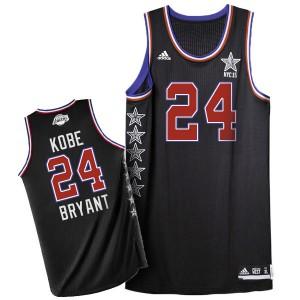 Los Angeles Lakers #24 Adidas 2015 All Star Noir Authentic Maillot d'équipe de NBA vente en ligne - Kobe Bryant pour Homme