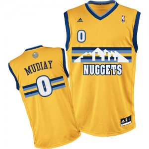 Maillot NBA Denver Nuggets #0 Emmanuel Mudiay Or Adidas Swingman Alternate - Homme