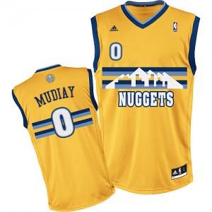 Maillot NBA Denver Nuggets #0 Emmanuel Mudiay Or Adidas Swingman Alternate - Homme