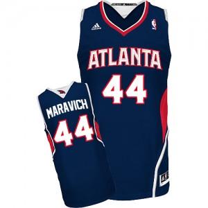 Maillot NBA Swingman Pete Maravich #44 Atlanta Hawks Road Bleu marin - Homme