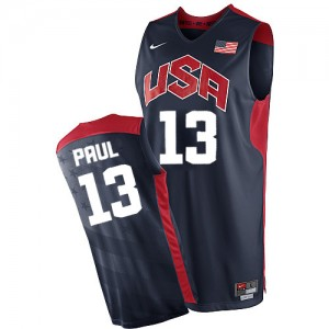 Maillot Nike Bleu marin 2012 Olympics Authentic Team USA - Chris Paul #13 - Homme